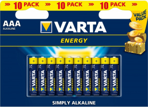 Элемент питания 1,5V AAA/LR03 VARTA Energy 10BP