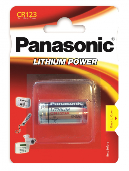 Элемент питания 3V CR123A Panasonic Lithium 1BP